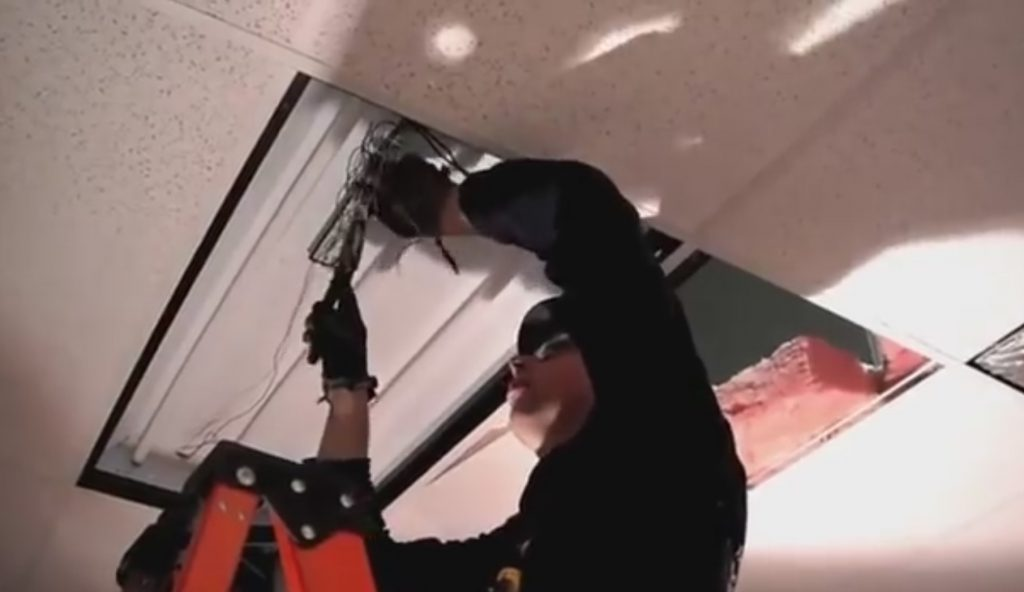 Commercial Lighting Fixture Installation