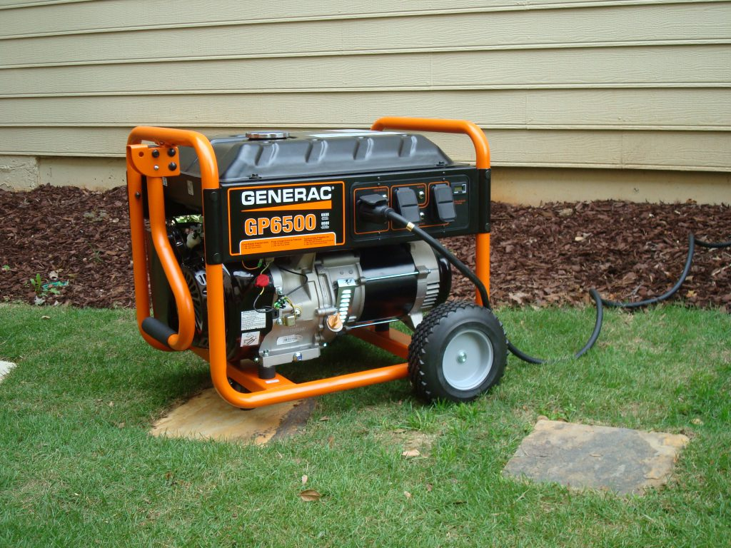 Portable Electric Generator for outdoor construction use